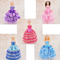 Wholesale 11 Fashion Doll with Wedding Dress Clothes Princess Party Gown Wears For Barbi Toys For Girls Great Christmas Gifts