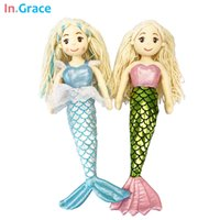 best girls beauty - princess style mermaid dolls high quality stuffed doll colors cm best gift toys for kids girls dream blue beauty cloth doll
