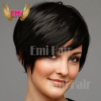 arrival hair wigs - Lace front human hair wigs New Arrival Cheap Pixie Cut short glueless with bangs for african americans Best brazilian hair wigs