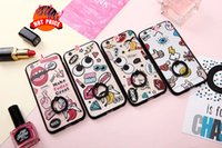apple wow - Zootopia Cartoon Soft TPU PC Case For Iphone S Plus Finger Ring Grip Holder Hook Stand Love Eye Lip Make Today Great Nice Wow Cover Skin