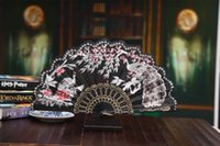 beautiful umbrellas sale - New beautiful peacock fans Ladies folding fans Wedding decoration Many colors available Drop shipping Hot sale