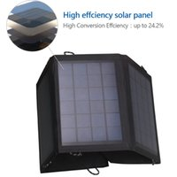 Wholesale Hoowvii W Solar Panel Power Charger portable Outdoor Panel Charger for Phone Table PC Android Devices