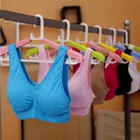 genie bras - 5Pcs Fashion bra with removable bra pads two layer Genie Bra women sport bra seamless sport bra women push up