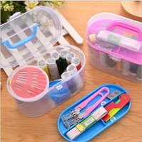 Wholesale Household Home Travel Portable Thorn Rust Sewing Kit Needle Double Layer Thread Hand Sewing handstitch Sewing T Good Quality