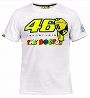 Wholesale 2016 New arrival motorcross MOTO GP FORTYSIX the doctor T shirt for valentino rossi shirt VR46 EURO size S XL white color
