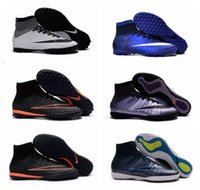 Wholesale 2016 mens turf soccer shoes indoor soccer cleats mercurial superfly cr7 football boots elastico superfly Cleats high ankle cristiano ronaldo