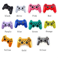 Wholesale Wireless Bluetooth Game Controller Gamepad for Sony PlayStation PS3 PS Game Controller Joystick for Android Video Games colors