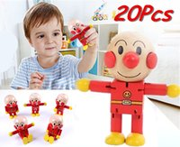 Wholesale Doll Rod End Anpanman Eco friendly Wooden Toys Red Iilliputian Deformation Baby Toys Robots Puppets Gift