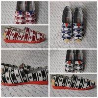 authentic shoes wholesale - 3 color LJJK149 Classic Canvas Slip On Shoes Authentic Unisex Breathable Sneakers Canvas Loafer Strip Casual Slip On Shoes pair