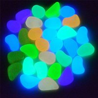 Wholesale Lowest Price Photoluminescent Pigment Mixed Color Glow In The Dark Pebbles Stones Home Garden Walkway Fish Tank Decoration