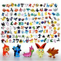 Wholesale pack opp bag Styles Poke Figures Toys cm Pikachu Charizard Eevee Bulbasaur Suicune PVC Mini Model Toys For Children