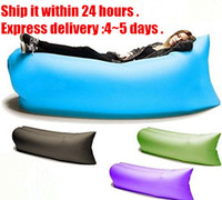 bag travel - Hot Lamzac laybag Fast Inflatable hangout Air sleeping bag Camping Bed Sofa Lounge Only Need Ten Seconds