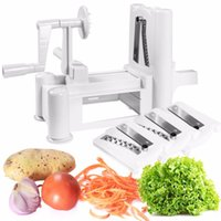Wholesale Goplus Tri blade Plastic Spiral Vegetable Slicer Spiralizer Cutter Kitchen New KC38374