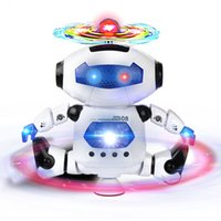 Wholesale Smart Rotating Space Dance Robot Electronic Walking Toys With Music Light Gift For Kids Astronaut Toy to Child