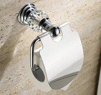 Wholesale excellent crystal brass chrome toilet paper box roll holder toilet chrome paper holder tissue box GY004