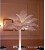 Wholesale 2016 cm Beautiful DIY Ostrich Feathers Plume Centerpiece for Wedding Party Table Decoration Wedding Decoration Hot Selling
