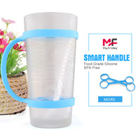 Wholesale Smart Silicone Bottle Handle Food Grade BPA Free Silicone Hand Grip Universal Water Thermos Bottle Handle Grip Size