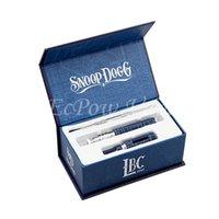 Double gift box metal - Snoop Dogg Pen Vape Dry Herb Vaporizer Wee E Cigs Blue Dog Snoop mah Gift Box Pack Starter Kit