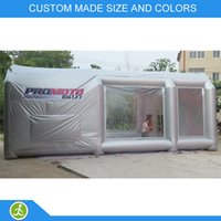 Wholesale m Inflatable custom made size and colors commercial car spray painting booth