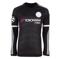 asymmetric shirt - Thai quality tracksuits season FC Chelsea second away kits men s long sleeve soccer jerseys Cheap football shirt