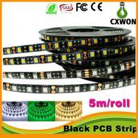 Wholesale New arrive Black PCB LED Strip IP20 non waterproof IP65 Waterproof DC12V LED m m roll Flexible LED Strip Light