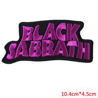 achat en gros de patches pour chandails-NOIR SABBATH heavy metal punk rock bande Iron On Patches étiquette DIY lettre pour chandail veste sportwear