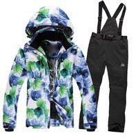 Wholesale Winter Fashion Women Ski Suit Sets Windproof Waterproof Ski Jacket Pants Warm Thicken Breathable Clothes Pants Set New