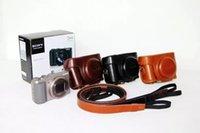 al por mayor sony cybershot-caja del filtro de la cámara digital 2016 de la PU de cuero con correa de la cámara para Cybershot DSC cámaras digitales de Sony hx60 HX50