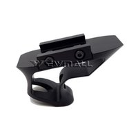 aluminum hand rail - 50pcs Aluminum AR Tactical Short Angled Hand Stop Fore Grip With mm rail