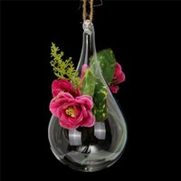 bamboo container gardening - Hot Sale Clear Hanging Glass Vase Container Hydroponic Flowers Plant Garden DIY Terrarium Wedding Party Home Decor