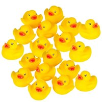 Wholesale High Quality Baby Bath Water Duck Toy Sounds Mini Yellow Rubber Ducks Bath Small Duck Toy Children Swiming Beach Gifts EMS shipping