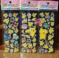 Wholesale Retail theme Cartoon Puffy stickers toys Frozen patrol dog the Avengers superman sesame street minions childrens wall stickers home deco