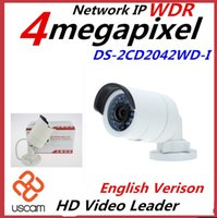 Wholesale HIKVISION English Version IP camera MP Bullet Security Camera POE Onvif DS CD2042WD I Surveillance Camera mm