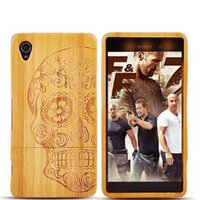 aqua patterns - 2016 Fashion Handmade Natural Bamboo Wooden Cover Carving Pattern Hard Case For Sony Xperia Z3 Z3 Z2 Z1 Z3 Compact M4 Aqua M2