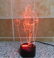 basketball table lamp - Basketball superstar Touch Control Night Colors Change USB LED Desk Table Light Lamp Power Bank Abajur Night Light