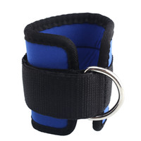 ankle strap cable - Ankle Strap D ring Leg Pulley Gym Weight Lifting Multi Cable Attachment Blue Sports Shock absorbent New