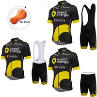 Wholesale 2016 Black BH Direct Energie Cycling Jersey Sets With D PAD Summer Clothing Short Sleeve Bib None Bib Available