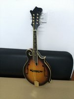 Wholesale New brand top F stype mandolin with spruce body in sunburst color all golden parts in stock