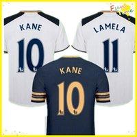 Wholesale DHL Tottenhaming Uniforms Kit CHIRICHES Kane Lamela YEDLIN Soccer Jersey Mason Home White Jerseys