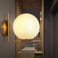 Wholesale Modern Wall Lamp Glass Sconce Luminaire Ball Light Luminaria Abajur For Bathroom Bedroom Light E27 Base Home Lighting Lamparas