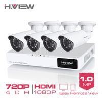 Wholesale H View CH CCTV System P HDMI AHD CCTV DVR MP IR Outdoor Security Camera TVL Camera Surveillance System