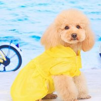 Wholesale Fashion Yellow Lace Pet Cat Dog Sun Protection UPF Sunscreen Skirt Pet Clothes Air Condition Outwear Thin Coat Raincoat
