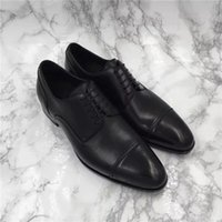 bend office - Top quality men dress shoes derby import buckskin vamp sacchetto genuine leather tread degree bend wear so luxury Masculinity size38