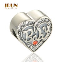 bangles for babies - 925 Sterling Silver Charms Alphabet Letters Baby Love Heart Shape European Charm Beads Bracelets Bangles For Chindren Kids X357