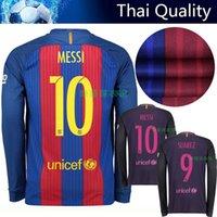 barcelona dress - Barcelona Soccer jerseys clothes top quality Thai version of the new football shirt Messi Neymar Long sleeve jersey dress