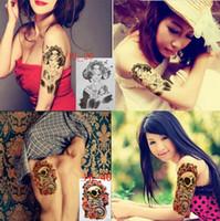 arm makeup - Body Art Beauty Makeup Punk Skull Sexy Triangle Eyes Tattoo D Waterproof Temporary Tattoo Stickers Arm Sticker Tats Style choose