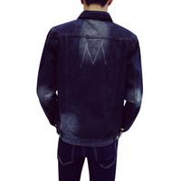 big jean jacket - Big Size M XL Fashion Men s Cotton Denim Jackets Man Jean Jacket Coat Casual Black Blue Denim Jacket Hight Qulity