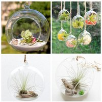 Wholesale Hanging Glass Vase Hanging Glass Vase Flat Bottomed Glass Vase Home Decor For Wedding Decoration cm Gift L21