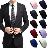 Wholesale Men Skinny New Classic Jacquard Woven Wedding Hot Party Silk Necktie Tie Slim