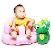 Wholesale Inflatable Sofa Baby Learn Sit Portable Bath Stools Kitchen Feed Chair Seat Stool Design Start Bathroom Shower Product Gifts